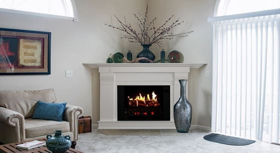 Why do you choose a wood-burning fireplace in the corner
